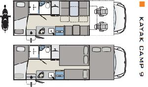 Kayak 9 autocaravana de ocasion diseño
